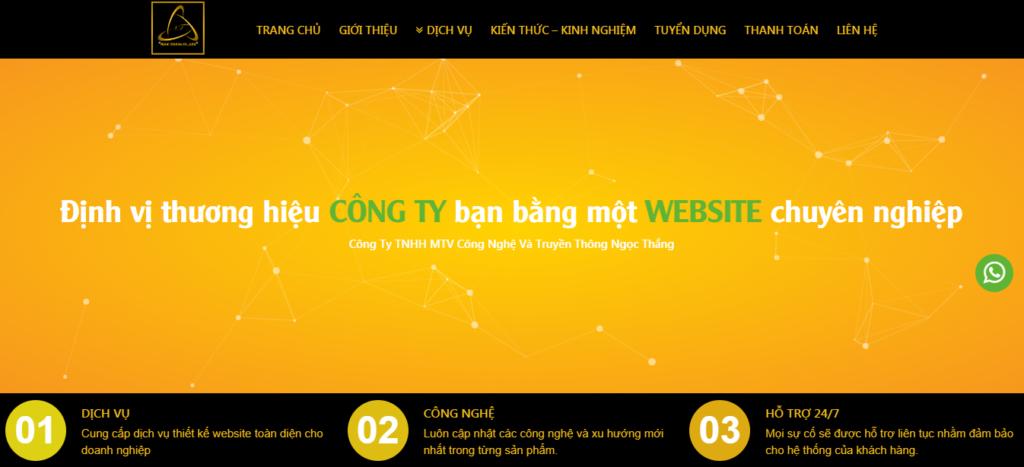 Dịch vụ thiết kế web chuyên nghiệp - webngocthang
